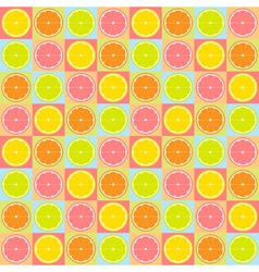 seamless citrus pattern vector image