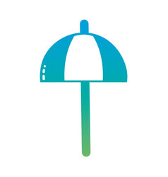 silhouette umbrella open style to weather vector image