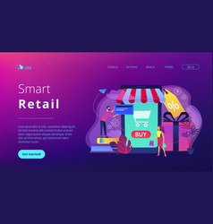 smart retail in smart city concept vector image