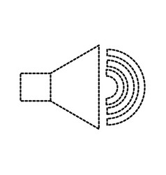 speaker audio sound volume button icon vector image