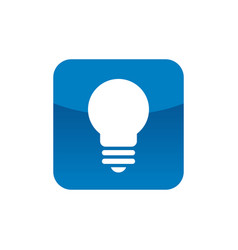 square with lightbulb icon logo element vector image