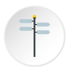 Street sign icon flat style vector image