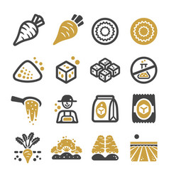 sugar beet icon set vector image