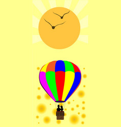 Summer balloon vector