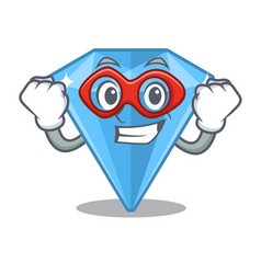 Super hero sapphire gems in cartoon shape vector