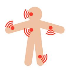 symptom checker medical icon vector image