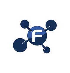 Synergy logo initial f vector