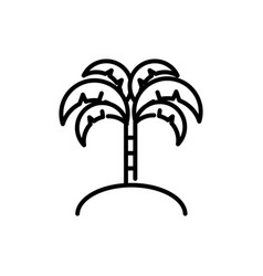 tropical palm tree tourism travel thick line vector image
