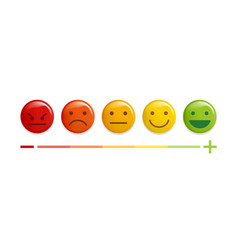 User experience feedback concept different mood vector
