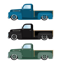 vintage colors cars a isolated vector image