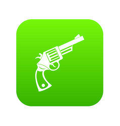 vintage revolver icon digital green vector image