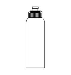 Water bottle thermo black and white vector