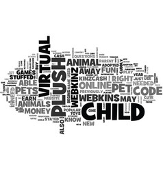 what are webkins pets text word cloud concept vector image