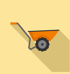 wheelbarrow icon flat style vector image