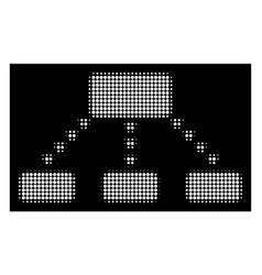 White halftone dotted scheme icon vector