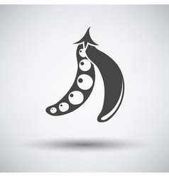 Pea icon on gray background vector image vector image