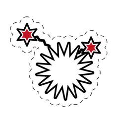 pop art star speech bubble symbol vector image
