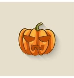 Pumpkin halloween symbol vector