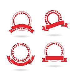 ribbon badge set vector image vector image