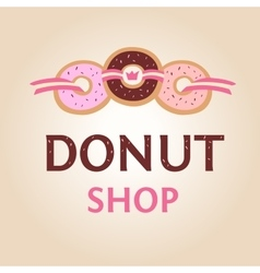 Template logo for donut shop vector image vector image