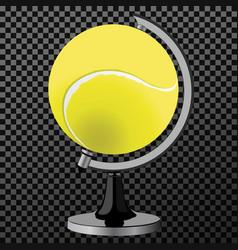 tennis ball tennis ball globe world game vector image