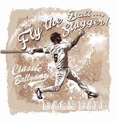 Baseball Flyball slugger vector image vector image