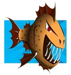 Cartoon piranha - vector