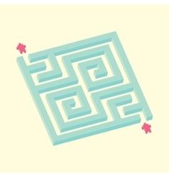 Isometric maze in pixel art style vector image
