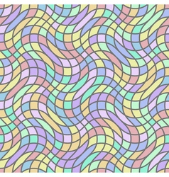 Seamless pattern in stained-glass window style vector