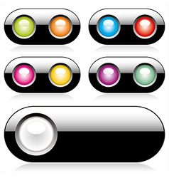 web buttons for website or app vector image