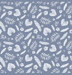 Dark grey tropical summer hawaiian seamless vector