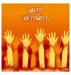 Halloween card design vector image vector image