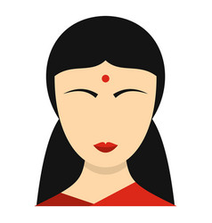 Indian girl icon isolated vector