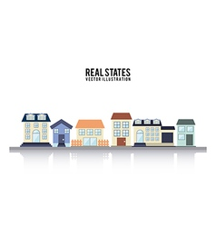Real estate design over white background vector image