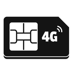 4g sim card icon simple style vector