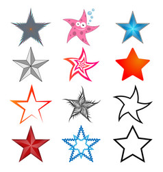 a set of five-pointed stars vector image