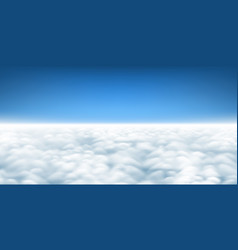 Above clouds background vector