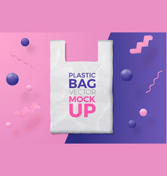 Abstract scene with plastic bag and text vector