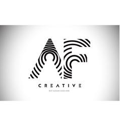 Af lines warp logo design letter icon made vector