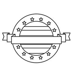 american flag banner patriotic symbol vector image