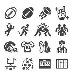 american football icon set vector image