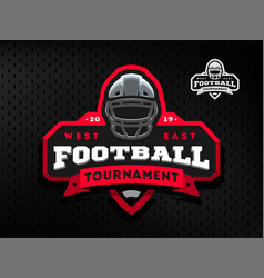 american football tournament emblem logo on a vector image