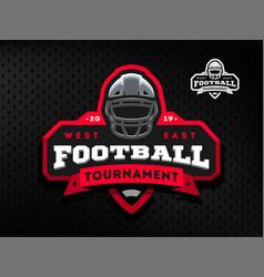 American football tournament emblem logo vector
