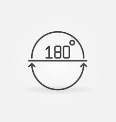 Angle 180 degrees outline icon or design vector