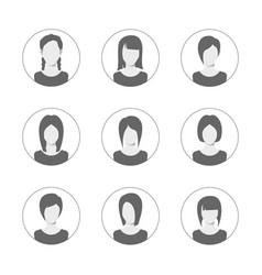 app or profile user icon set set of women avatar vector image