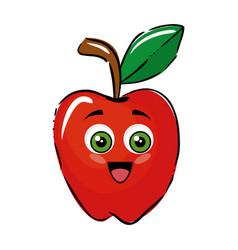 apple funny cartoon vector image
