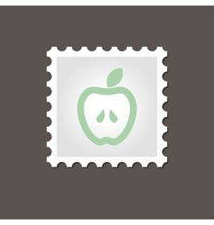 Apple stamp Outline vector