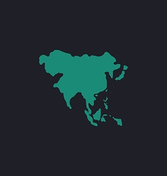 Asia computer symbol vector image