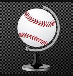 Baseball baseball globe isolated over vector