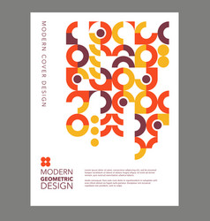 bauhaus style template design with circles vector image